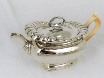 4-delig zilveren koffie- theeservies. - .934 zilver - Bennewitz & Zonen Amsterdam -  1832-1833 [ Gereserveerd]