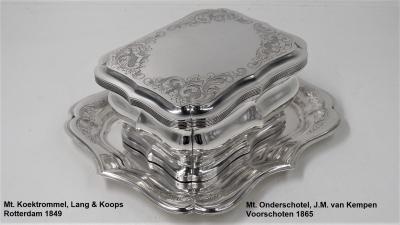 Biedermeier koektrommel, Lang & Koops, 1849[Gereserveerd]