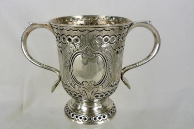Zilveren beker met 2 oren, Engeland 1759