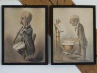 6 Litho's, Herbert König, Dresden 1820-1876 [ Gereserveerd]
