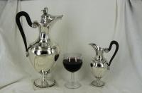 Grote en kleine zilveren Empire wijnkan, Frankrijk 1798-1809