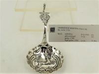 Zeer fraaie zilveren roomlepel, Leeuwarden ca. 1793