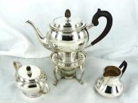 Zilveren 4 delig theeservies